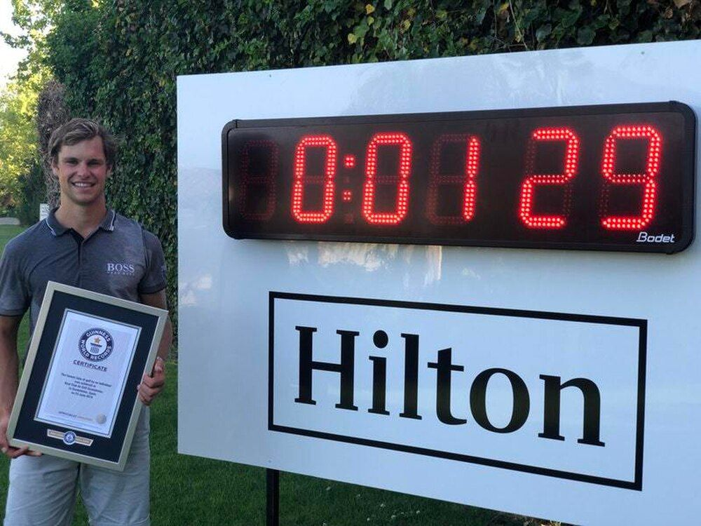 Thomas Detry haalt Guinness World Record