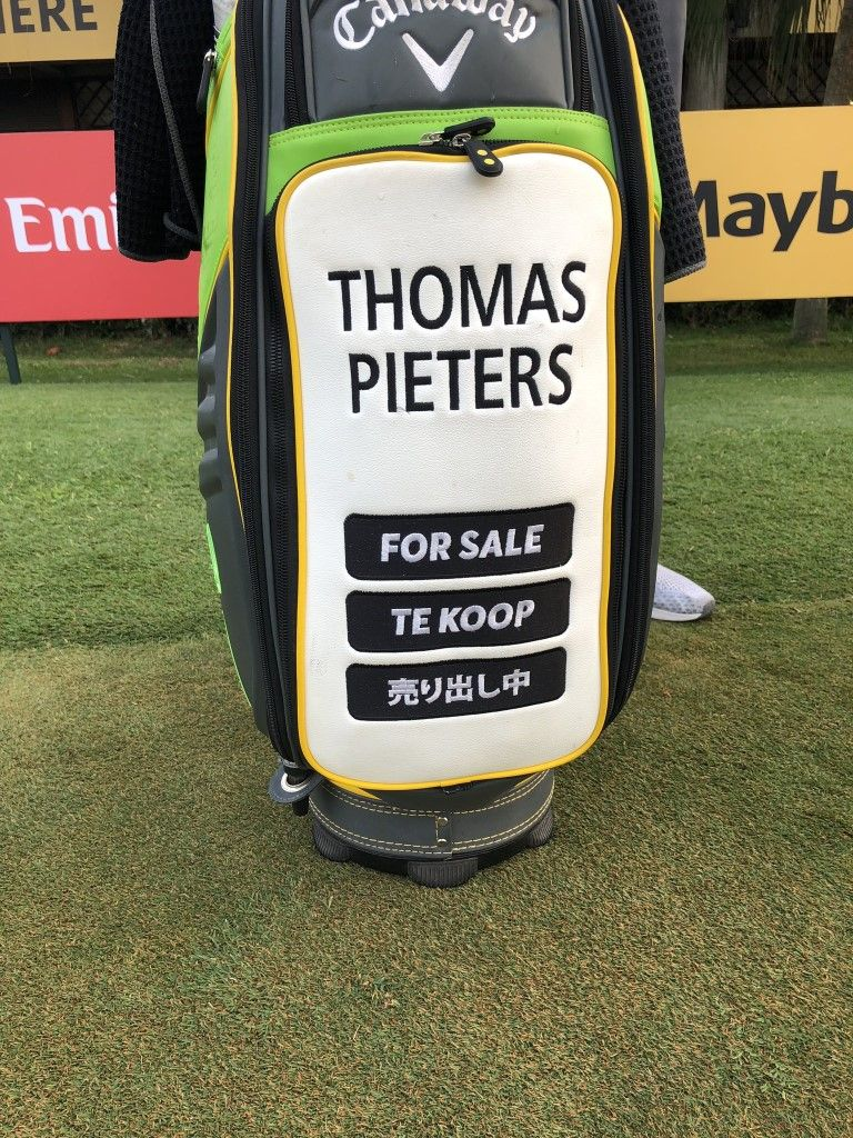 Thomas Pieters n'a pas encore de bag sponsor
