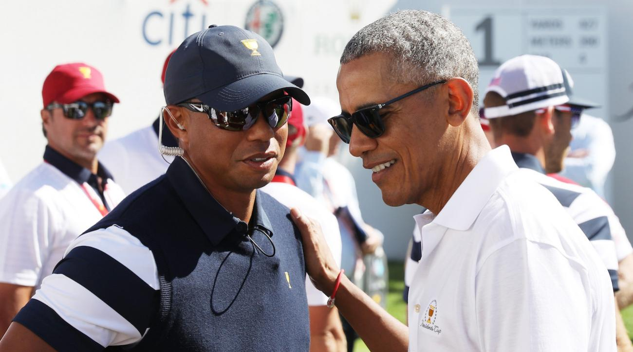 Tiger Woods en Barrack Obama laten jeugd gratis golfen - Blog